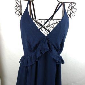ASOS New Navy Blue Maxi Dress bridesmaid Wedding